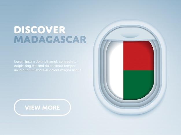 Reisen mit dem flugzeug banner Premium Vektoren