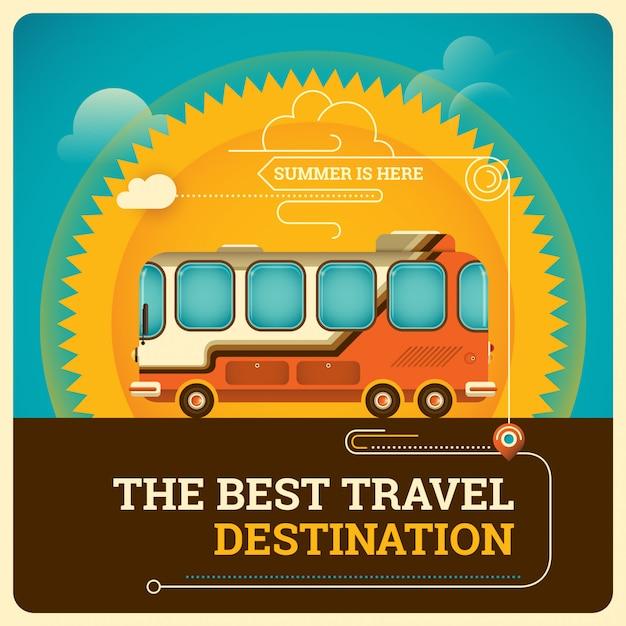 Reisende illustration Premium Vektoren