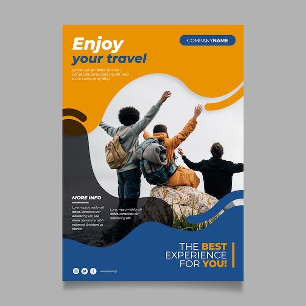 Reiseplakat-konzept Kostenlosen Vektoren