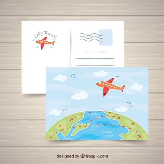 Reisepostkarte Kostenlose Vektoren