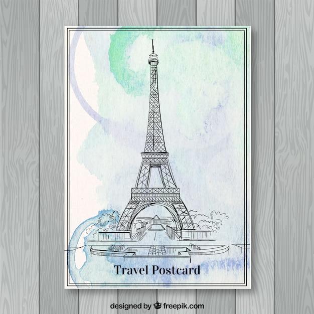 Reisepostkarte Kostenlosen Vektoren