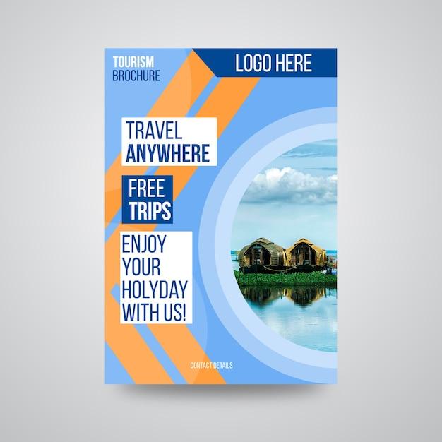 Reiseunternehmen broschüre design Premium Vektoren
