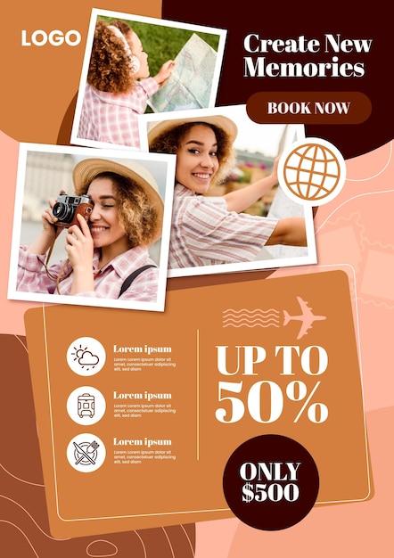 Reiseverkauf flyer vorlage Kostenlosen Vektoren