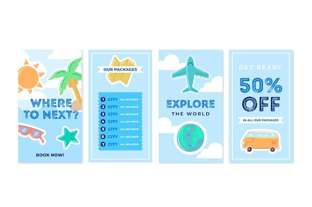 Reiseverkauf instagram geschichten Kostenlosen Vektoren