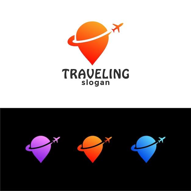 Reiseziel ort standort logo Premium Vektoren