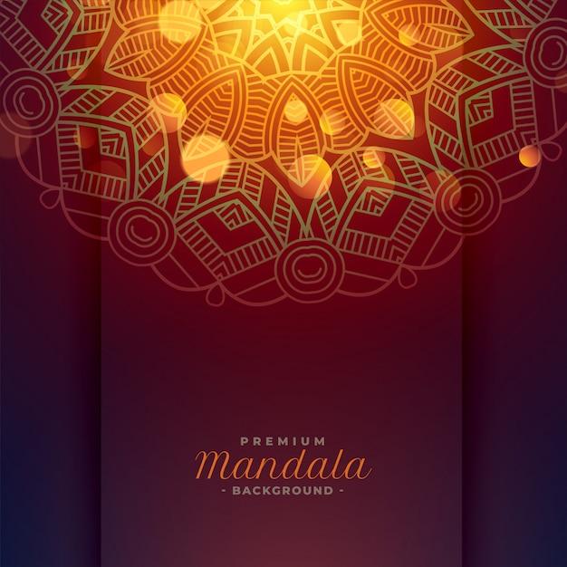 Reizender mandalakunsthintergrund Kostenlosen Vektoren