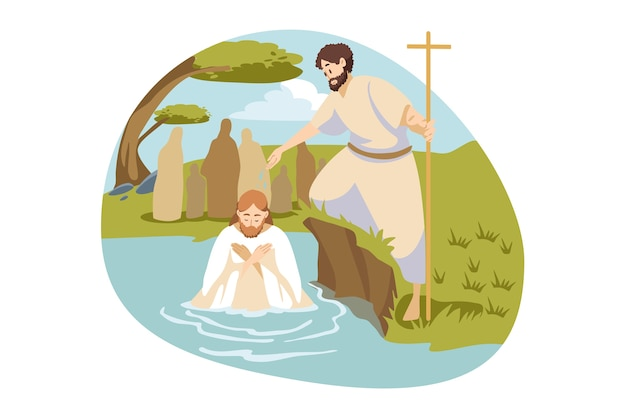 Religiöse illustration Premium Vektoren