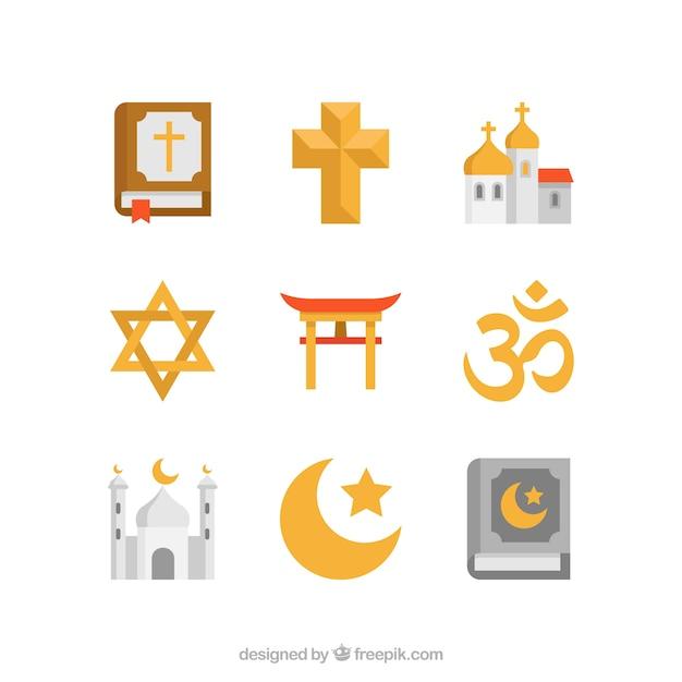 Religion symbole Kostenlosen Vektoren