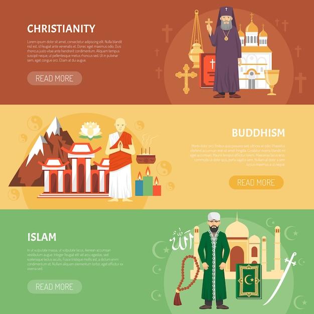 Religionsgeständnis banner Kostenlosen Vektoren
