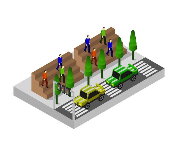 Rennwagen isometrisch Premium Vektoren