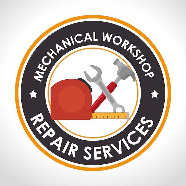 Reparaturservice abbildung Kostenlosen Vektoren