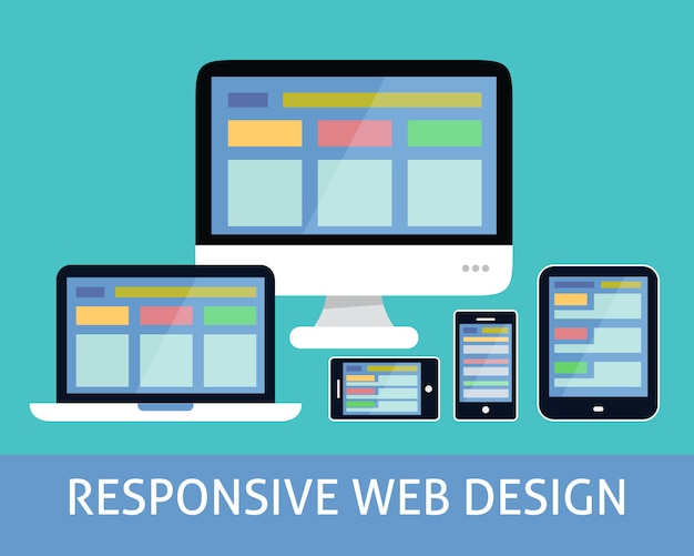 Responsive web-design-konzept Premium Vektoren