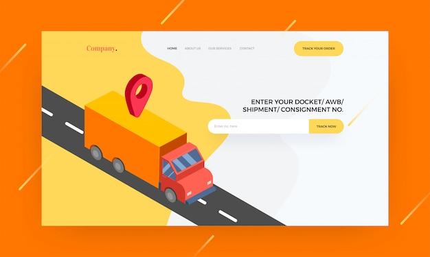 Responsive website vorlage oder held banner-design Premium Vektoren