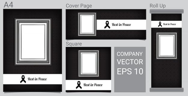 Rest in peace funeral kartenvorlage Premium Vektoren