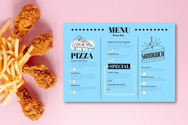 Restaurant bunte menüvorlage Kostenlosen Vektoren