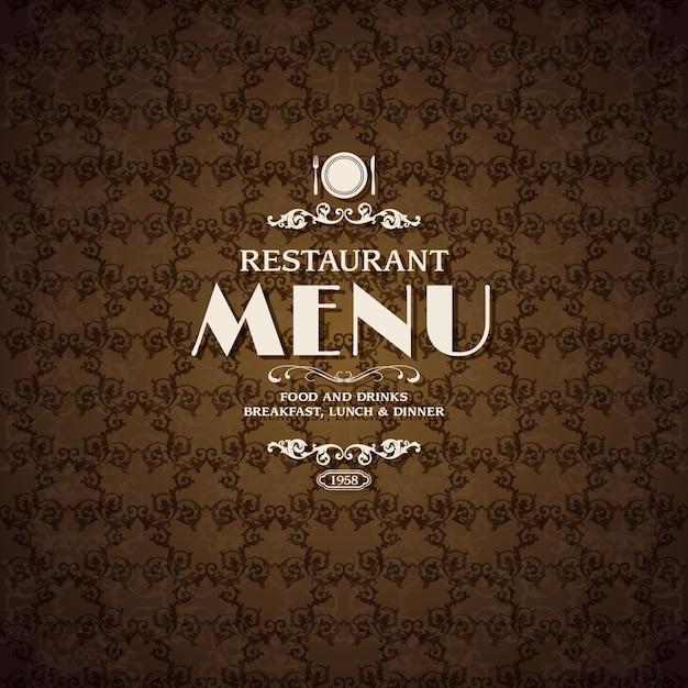Restaurant Café Menü Abdeckung Vorlage | Download der kostenlosen Vektor