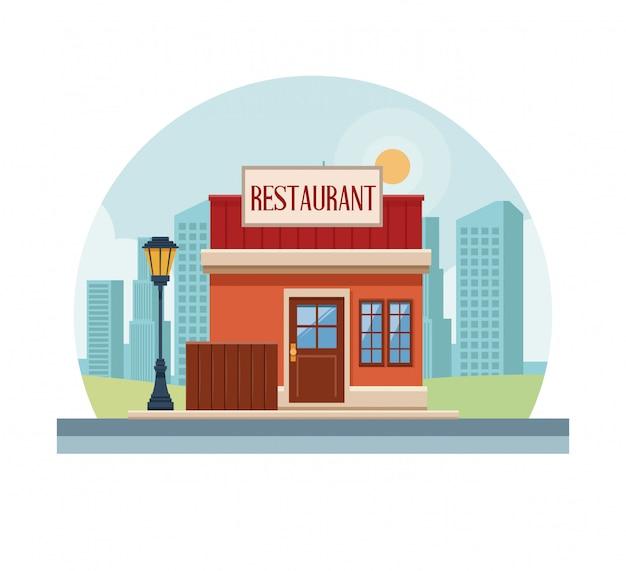 Restaurant ladengeschäft Premium Vektoren