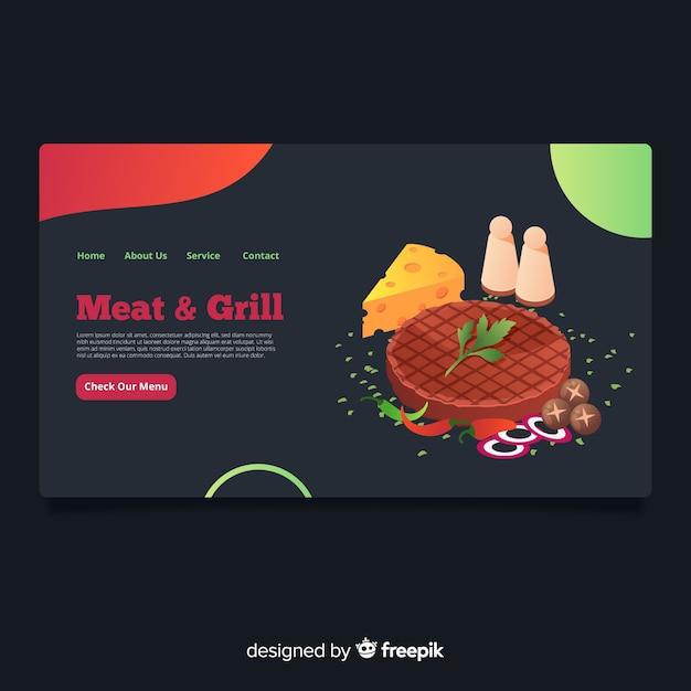 Restaurant landing page Kostenlosen Vektoren