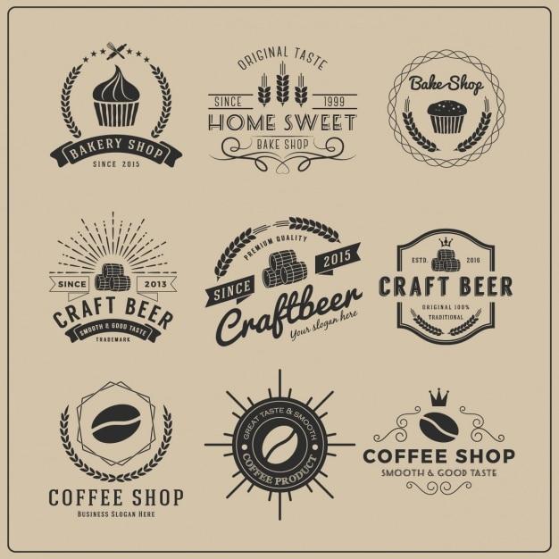 Restaurant-Logo-Vorlagen Sammlung | Download der kostenlosen Vektor