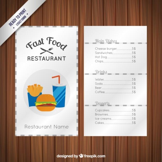 Restaurant-Menü-Schablone   Download der Premium Vektor