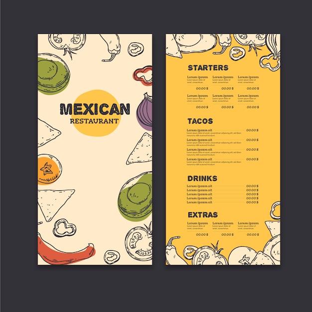 Restaurant menüvorlage Kostenlosen Vektoren