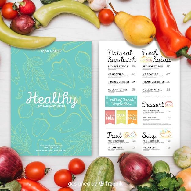 Restaurant Menüvorlage | Download der kostenlosen Vektor