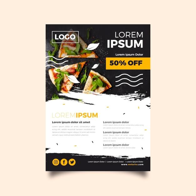 Restaurant poster vorlage Kostenlosen Vektoren