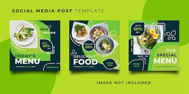 Restaurant social media post vorlage Premium Vektoren