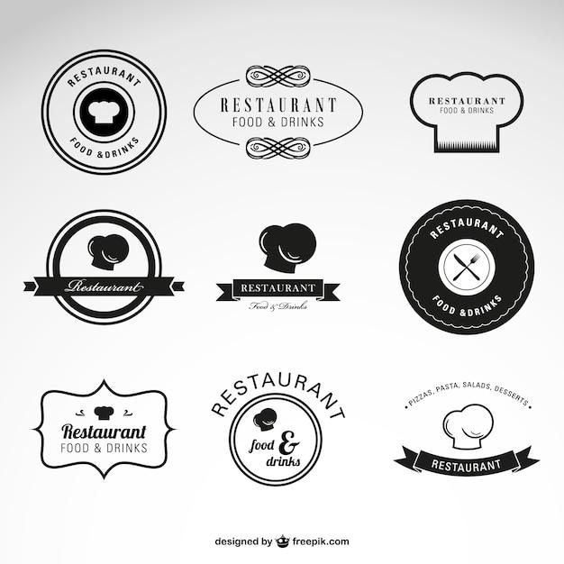 Restaurant Speisen und Getränke Vektor-Logos | Download der ...