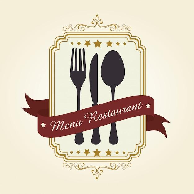 Restaurant und küchengeschirr Premium Vektoren