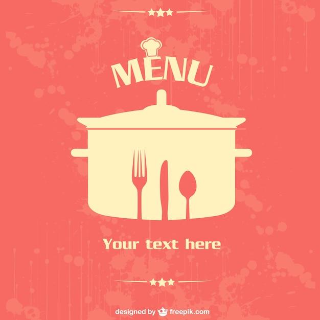 Restaurant vektor poster-design Kostenlosen Vektoren