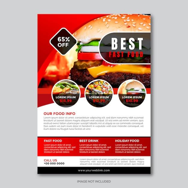 Restaurantunternehmen flyer vorlage Premium Vektoren