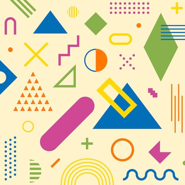 Retro abstrakte geometrische nahtlose muster. Premium Vektoren