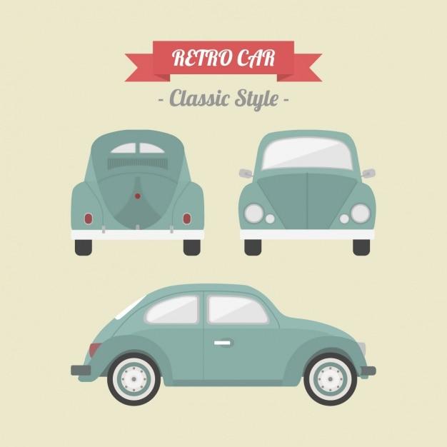 Retro-auto-design Kostenlosen Vektoren