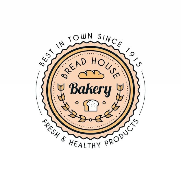 Retro backery logo vorlage Kostenlosen Vektoren