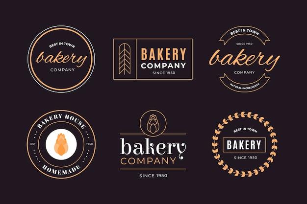 Retro bäckerei-geschäftsfirmenlogo Kostenlosen Vektoren