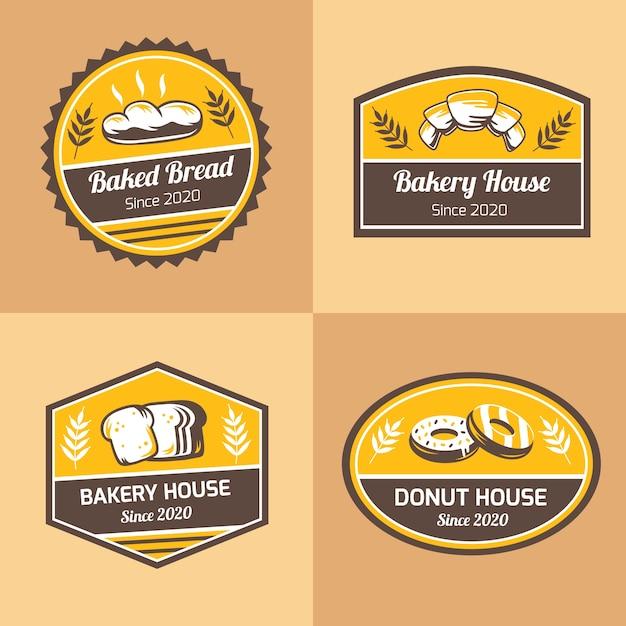 Retro bäckerei logo konzept Kostenlosen Vektoren