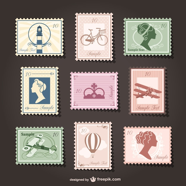 Design Postage Stamp Template