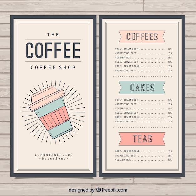 Retro Café-Menü-Vorlage | Download der kostenlosen Vektor