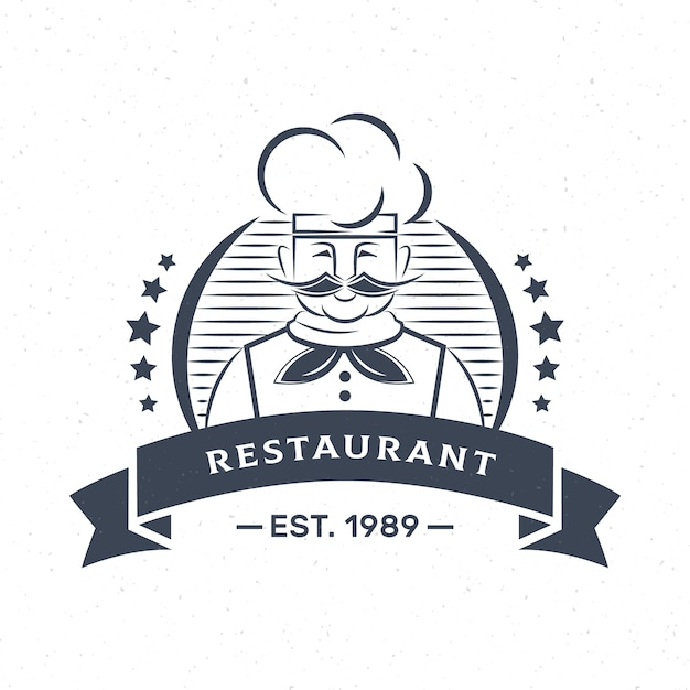 Retro chef restaurant restaurant firmenlogo Premium Vektoren