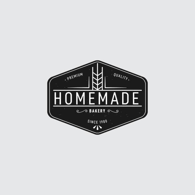 Retro design bäckerei logo Kostenlosen Vektoren