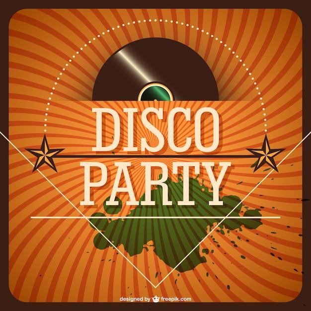 Retro Disco Party Einladung | Download Der Kostenlosen Vektor, Einladungs