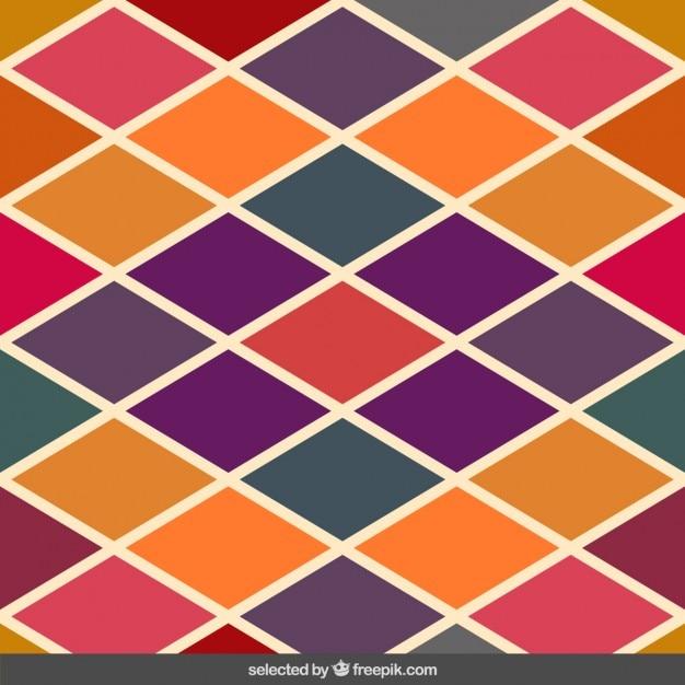 Retro Farben Rautenmuster Download Der Kostenlosen Vektor