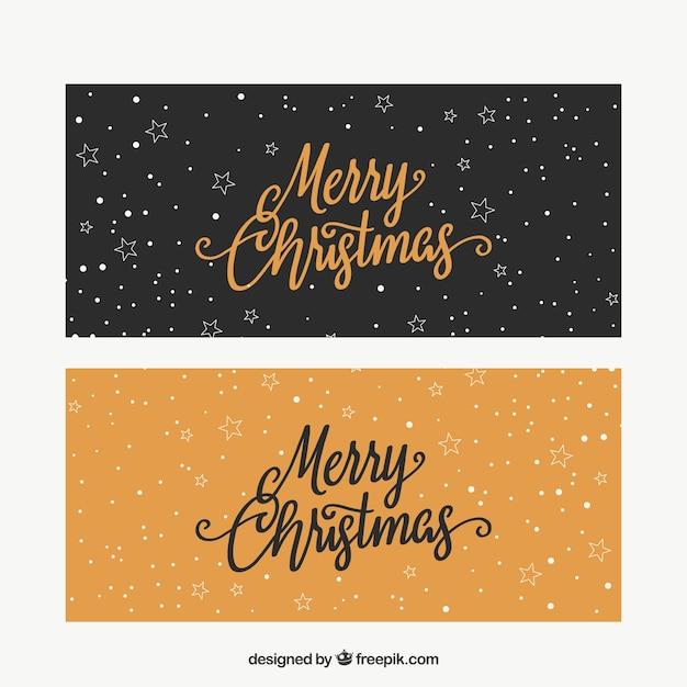 retro frohe weihnachten banner download der kostenlosen vektor