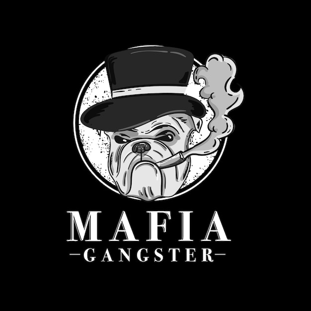 Retro gangster charakter design Premium Vektoren