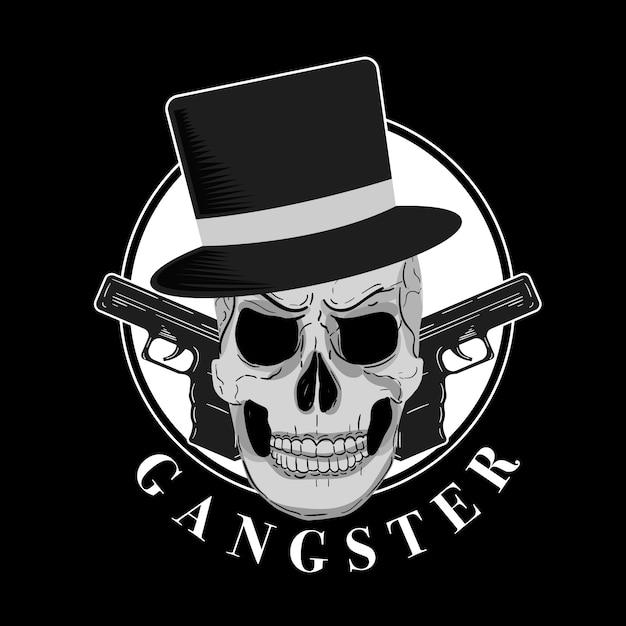 Retro gangster charakter Kostenlosen Vektoren