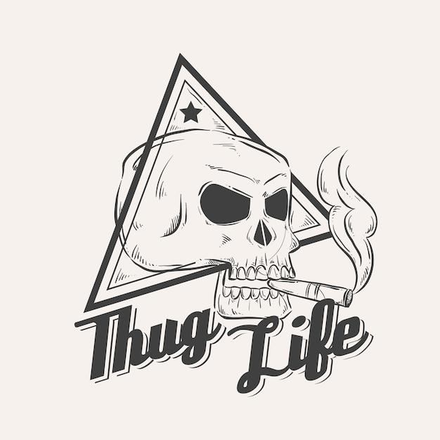 Retro gangster logo Kostenlosen Vektoren