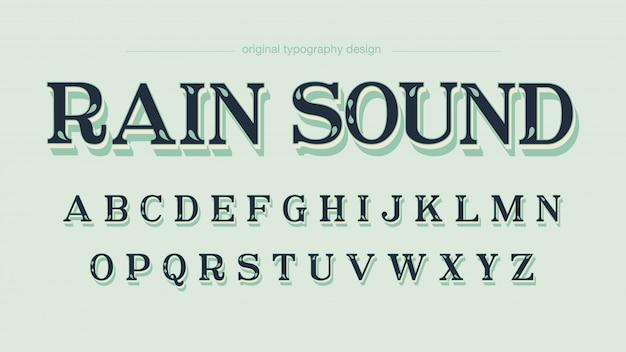 Retro gewohnheit verlässt mutige schatten-typografie Premium Vektoren