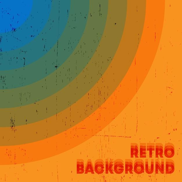 Retro grunge textur hintergrund mit vintage farbigen streifen. vektorillustration Premium Vektoren