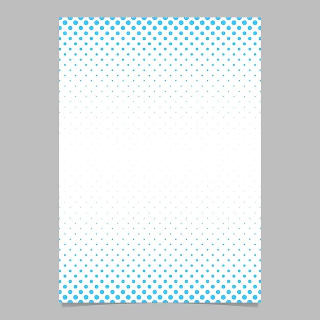 Retro halbton punkt muster broschüre vorlage - vektor poster hintergrund illustration mit kreis muster Kostenlosen Vektoren